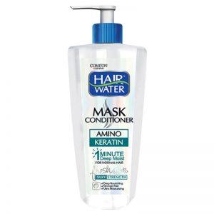 ماسک و نرم کننده موی هیر واتر کراتینه کامان مناسب موهای معمولی و کمی چرب 400 میلی لیتر